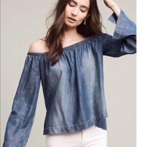 Anthropologie Cloth & Stone sz M Off Shoulder Top